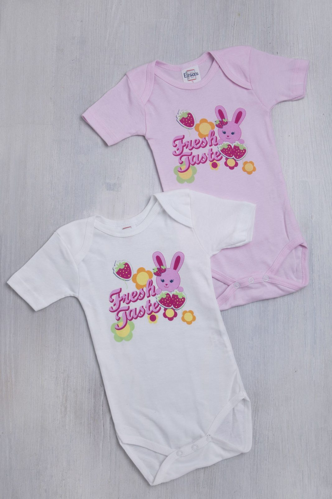Σετ φορμάκια για Κορίτσια με κοντό μανίκι σε λευκό και ροζ