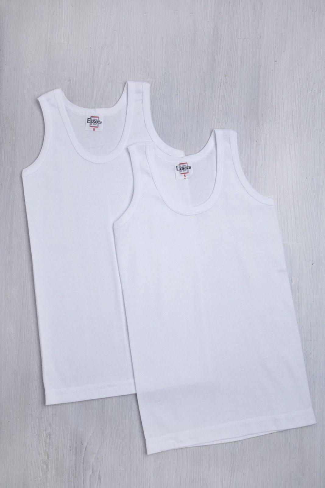 Σετ παιδικές φανέλες αμάνικες σε λευκό χρώμα