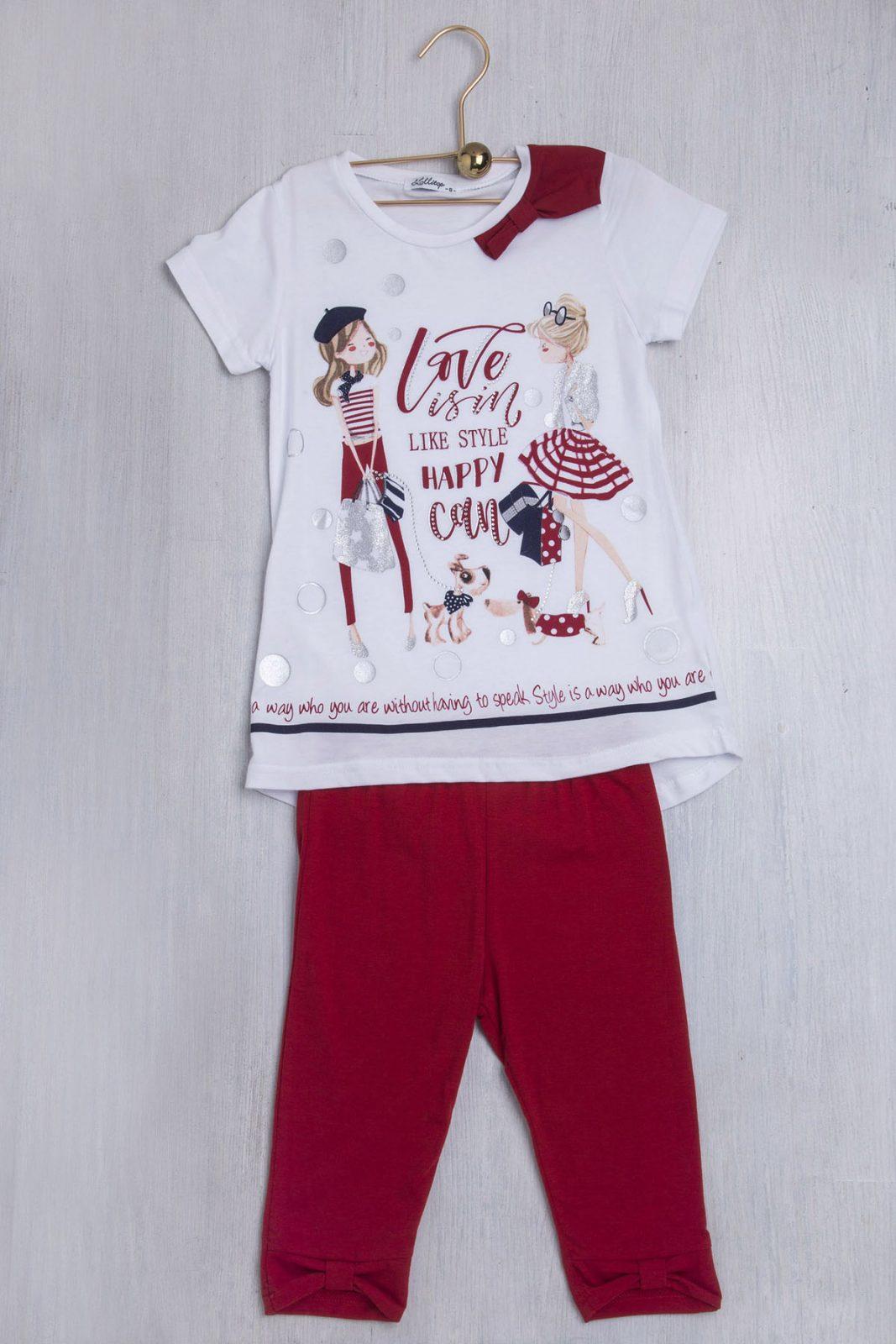 Σετ μπλούζα κοντομάνικη   κολάν κάπρι - Ersas Παιδικά 973a1a85f05