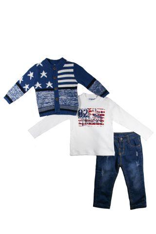 Σετ ζακέτα με μπλούζα & παντελόνι 4
