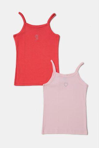 Σετ φανέλες τιραντάκι σε ροζ και κοραλί χρώμα