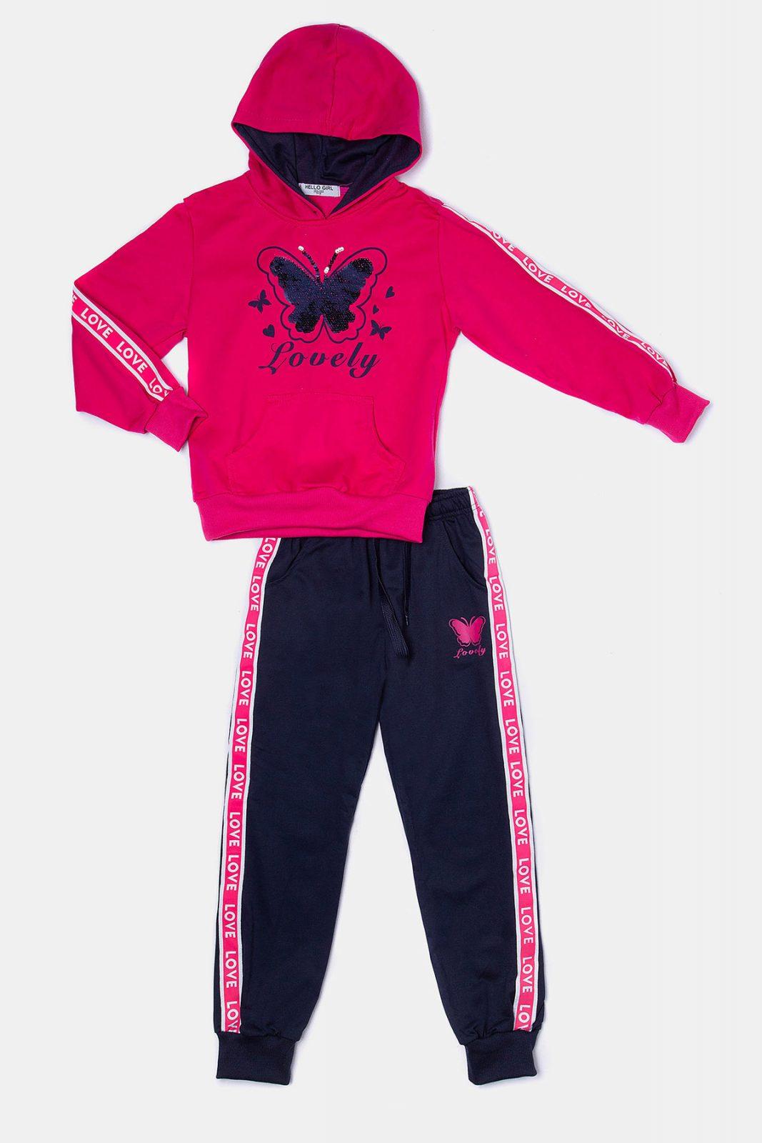 be3b59cdc86 Φόρμα πεταλούδα φούξια με πούλιες - Ersas Παιδικά, Βρεφικά Ρούχα