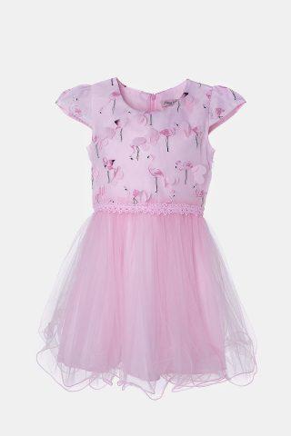 Φόρεμα φλαμίνγκο με τούλι