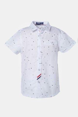 Λευκό πουκάμισο παιδικό εμπριμέ