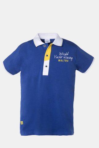 Παιδικη μπλούζα τύπου Polo σε ραφ χρώμα και λευκό γιακά
