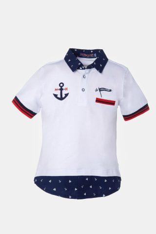 Παιδική μπλούζα για αγόρια με άγκυρα στο πέτο