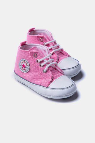 Βρεφικά αθλητικά παπούτσια για κορίτσια με διακοσμητικό κορδόνι