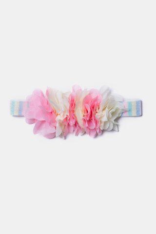 Βρεφική κορδέλα για τα μαλλιά με πολύχρωμα λουλούδια