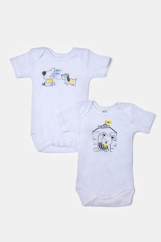Φορμακια για μωρά με κοντό μανίκι και πολύ χρωμα τύπωμα