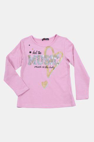 μπλούζα παιδικη για κορίτσια με στάμπα και στρας
