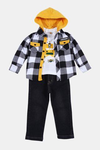 Σετ βρεφικό αγόρι με καλό πανωφόρι και κουκούλα