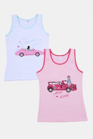 Φανελάκια για κορίτσια ροζ και λευκό