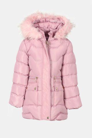 μπουφαν κορ΄τισι σε ροζ χρώμα με εσωτερική γούνα