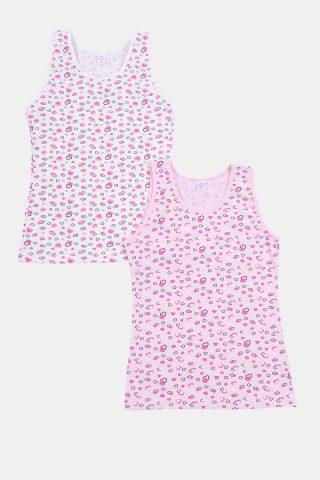 παιδικά φανελάκια ροζ με καρδούλες