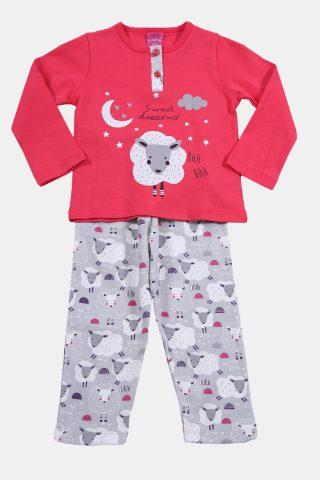 παιδικές πυτζάμες φουξια με προβατάκια