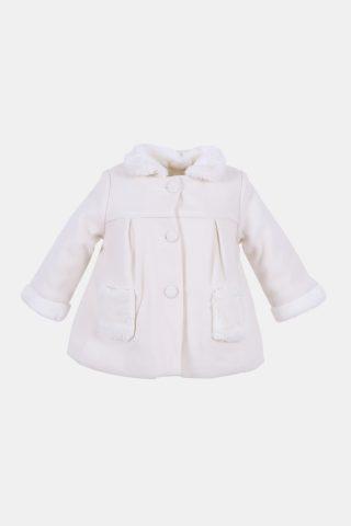 παλτό για μωρά κορίτσια με γούνινο γιακά