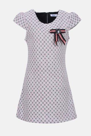 Παιδικό φόρεμα ζακάρ με φιόγκο στο πέτο