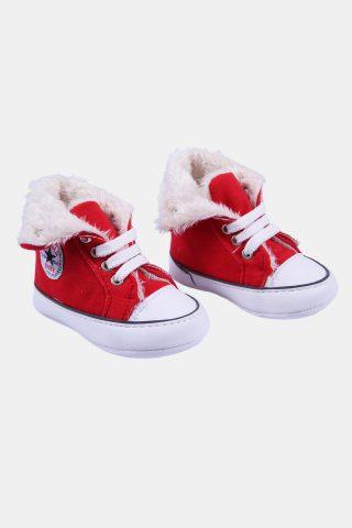βρεφικά παπούτσια αγκαλιάς με κορδόνια για κορίτσια