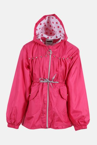 Παιδικό Αντιανεμικό Μπουφάν για Κορίτσια σε Φούξια Χρώμα
