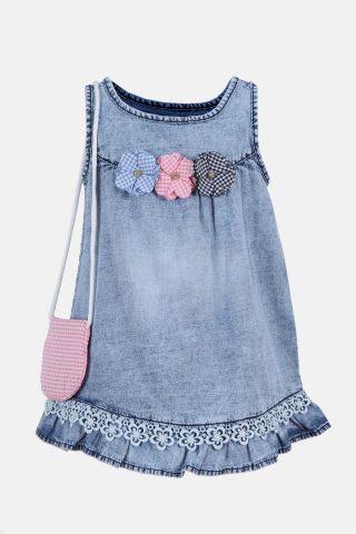 Παιδικό Φόρεμα για Κορίτσια Αμάνικο σε Χρώμα Ροζ