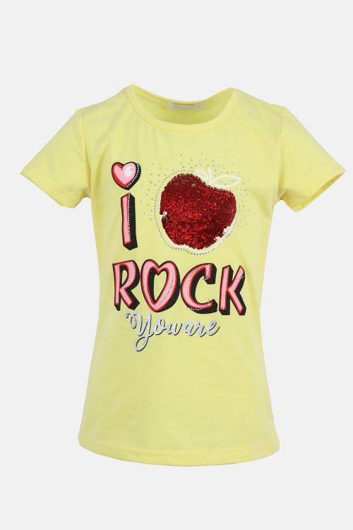 Παιδική Μπλούζα Rock για Κορίτσια σε χρώμα κίτρινο