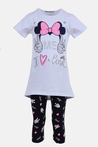 Παιδικό Σετ για Κορίτσια με Μπλούζα και Κάπρι Παντελόνι