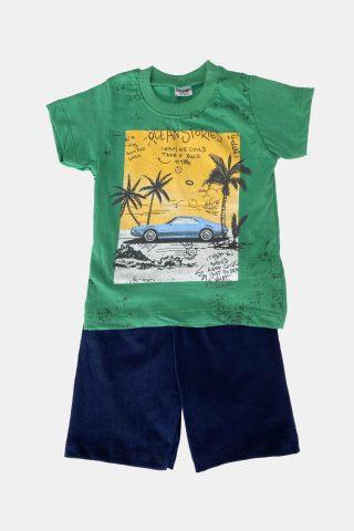 πράσινο σετ για αγόρια με τύπωμα ωκεανό