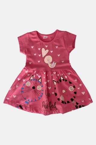 μακό παιδικό φόρεμα με γατούλες