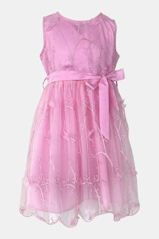 παιδικό φόρεμα κεντητό με φιόγκο