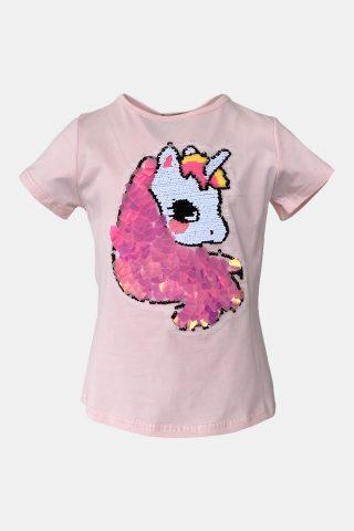 μπλούζα μονόκερος ροζ