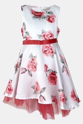 παιδικό φόρεμα με τριαντάφυλλα και τούλι